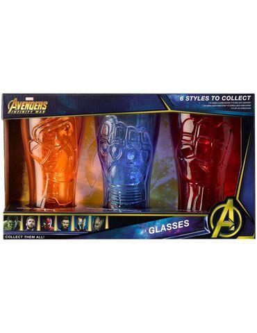Verre - Avengers Infinity War - Set de 3 Pierres B