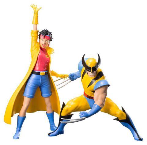 Pack de 2 statuettes Artfx Kotobukiya - Marvel Universe - Wolverine et Jubilee