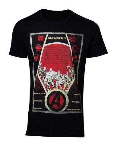 T-shirt - Avengers - Constructivism Poster Men's - Taille L