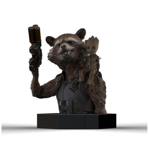 Buste - Les Gardiens de la Galaxie Vol 2 - Rocket Raccoon & Groot 16 cm