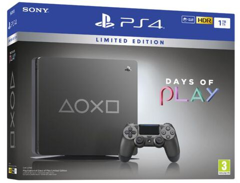 Pack Ps4 Slim 1to Steel Black Days Of Play Limited Edition