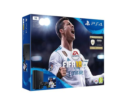 Pack Ps4 Slim 1 To Noire + FIFA 18