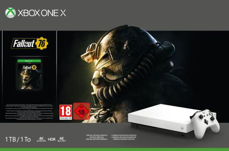 Pack Xbox One X 1to Blanche Fallout 76 Edition Limitée