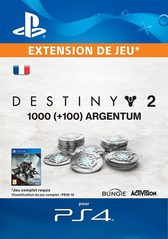 Dlc Destiny 2 - 1000 (+ 100 En Bonus) Argentum De Destiny 2