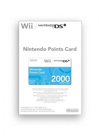 Nintendo Carte A Points (2000) Wii Et Dsi