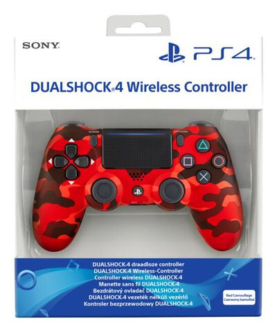 Dual Shock 4 Red Camo