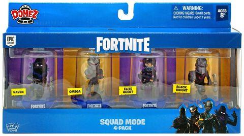 Figurine Domez - Fortnite - Pack de 4 personnages