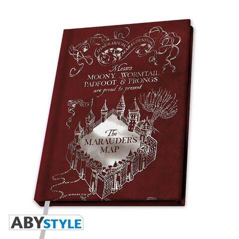 Cahier A5 - Harry Potter - Carnet carte du Maraudeur