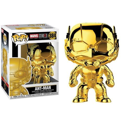 Figurine Funko Pop! N°384 - Marvel Studios 10 - Ant-man (chrome)