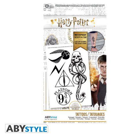 Tatouages - Harry Potter - Kit 5 Tatouages 15x10cm