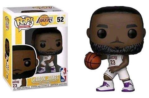 Figurine Funko Pop! N°52 - NBA - Lakers James Lebron (maillot Blanc)