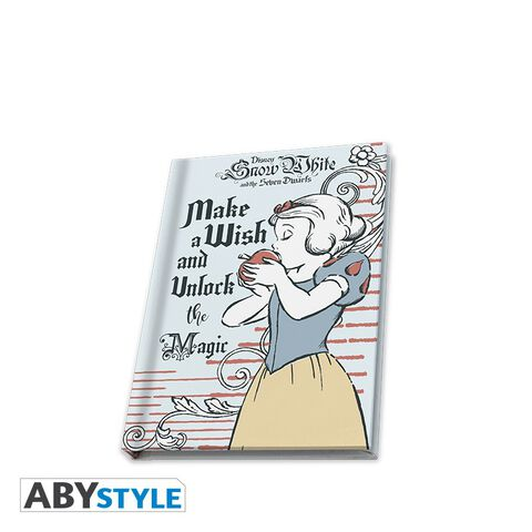 Cahier A6 - Blanche-Neige - Carnet make a wish and unlock the magic