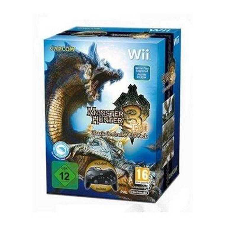 Monster Hunter Tri + Manette Classique Pro Wii Noire