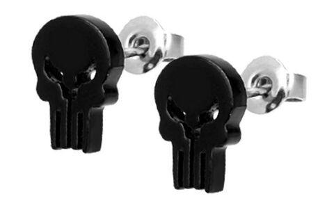 Boucles d'oreilles - Marvel Punisher - Logo tête de mort
