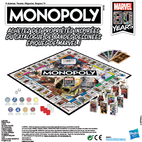Monopoly - Marvel - Marvel 80th Anniversary