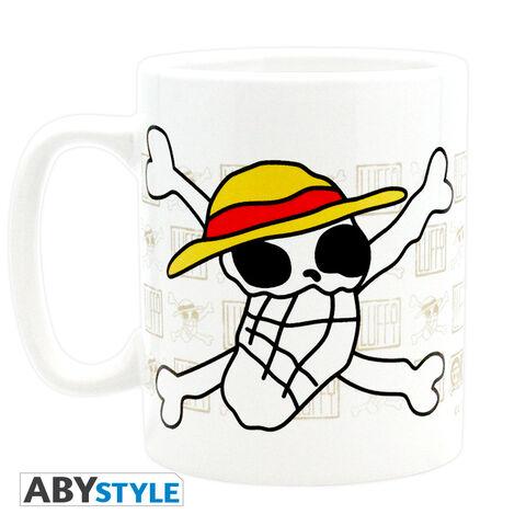 Mug - One Piece - Skull - Dessin De Luffy - 460 Ml