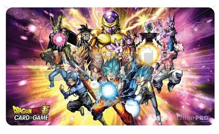 Tapis de Jeu - Dragon Ball Super - personnages + tube