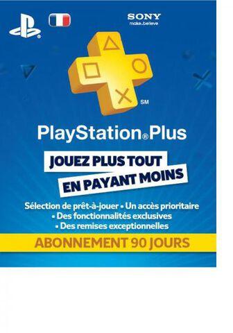 Carte Prépayée Playstation Plus (PSN) - Abonnement 90 jours