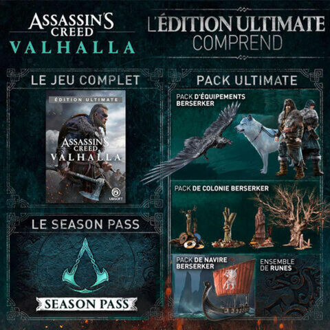 Assassin's Creed Valhalla Edition Ultimate Exclusivite Micromania