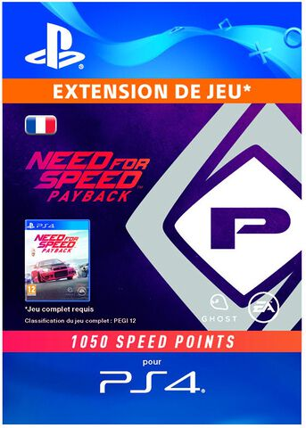 Need For Speed Payback-1050 Speed Points-ps4