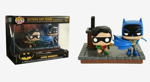 Figurine Funko Pop! Moment N°281 - Batman 80th - Batman et Robin (1964)
