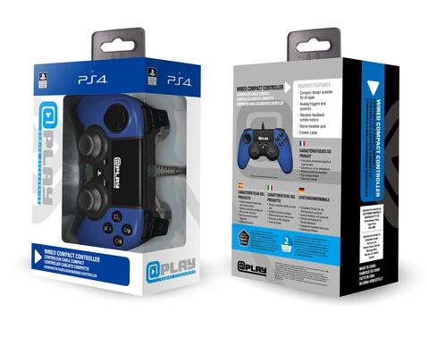 @play Manette Filaire Bleue Ps4 Officielle Sony