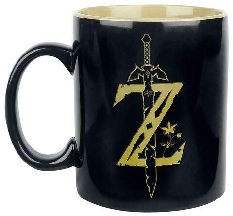 Mug - Zelda - Noir Et Doré 480 Ml - NINTENDO