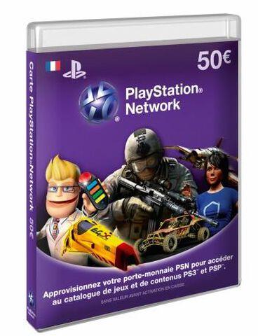 Carte Prépayée PlayStation Network (PSN) 50 euros PS4 - PS3 - PS Vita