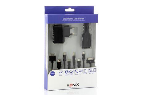 Pack chargeur secteur + Car Universel Konix