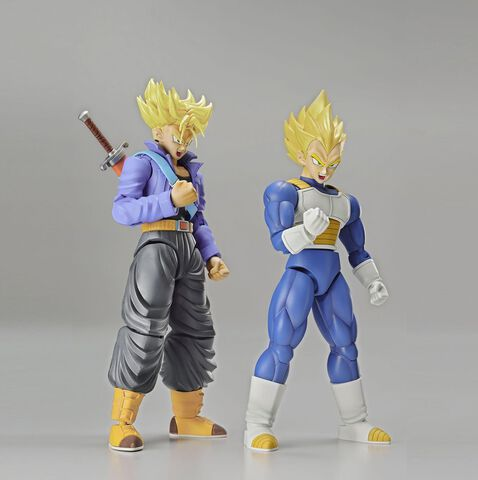 Figurines Figure-rise Standard - Dragon Ball Z - Trunks et Vegeta Super Saiyans 15 cm