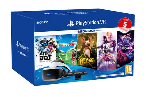 Casque Playstation Vr Mk4 Mega Pack 3 - 5 Jeux