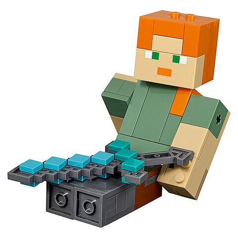 Lego - Minecraft - 21149 - Bigfigurine Série 1 Alex et son poulet