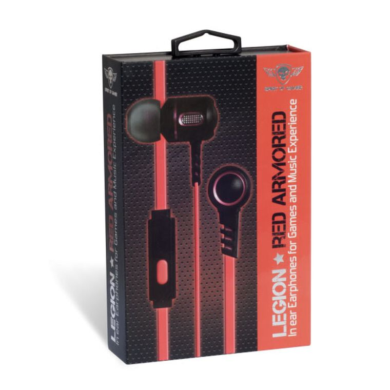 Ecouteurs Intra Auriculaires Spirit of Gamer Legion Rouge