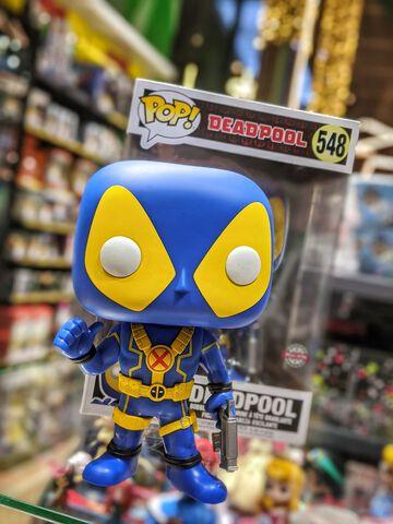 Figurine Funko Pop! N°548 - Deadpool - Deadpool Pouce En L'air 25 Cm Bleu