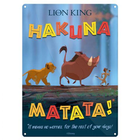 Plaque en métal - Le Roi Lion - Hakuna Matata