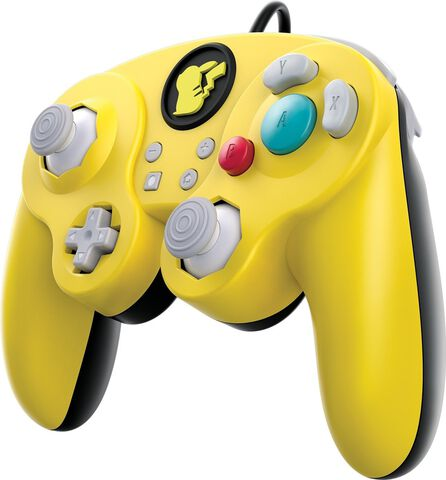 Manette filaire Fight Pad Pikachu licence Nintendo - Exclusivité Micromania-Zing