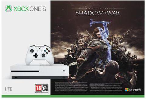 Pack Xbox One S 1 To Blanche + L'ombre De La Guerre (token) - Exclusivité Micromania