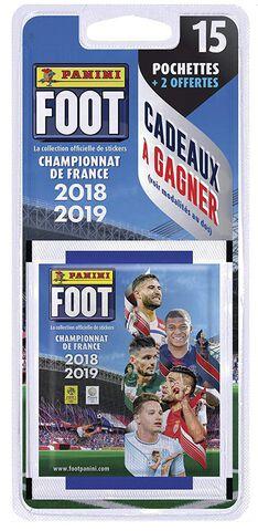 Cartes Foot 2018 2019 - Panini - Blister de 15+2 pochettes gratuites
