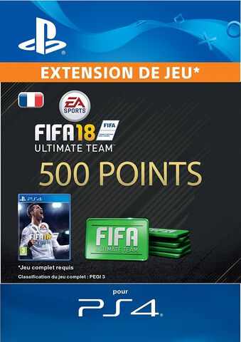 FIFA 18 Ultimate Team 500 Pts Ps4