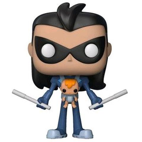 Figurine Funko Pop ! N°599 - Teen Titans Go! - Robin As Nightwing With Baby