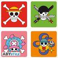 Dessous de Verre - One Piece - Set de 4 Skulls