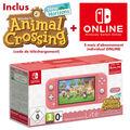 Nintendo Switch Lite Corail + Animal Crossing New Horizons