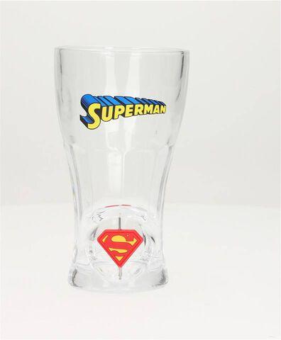 Verre - Superman - Soda 3d Avec Logo