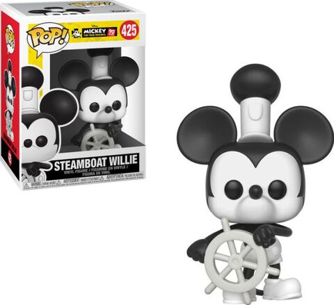 Figurine Funko Pop! N°425 - 90e Anniversaire de Mickey - Mickey dans Steamboat Willie