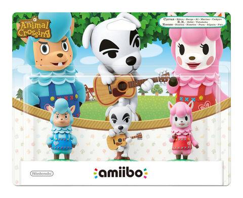 Pack 3 Amiibo Animal Crossing Kéké + Risette + Serge