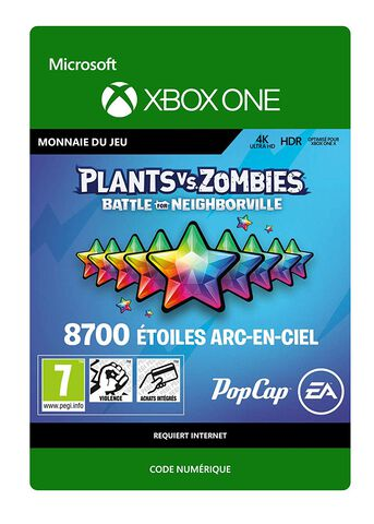Plants Vs Zombies Battle For Neighborville - Dlc - 8700 Points étoiles Arc-en-ci