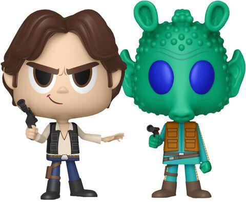 Figurine Vynl - Star Wars - Twin Pack Han Solo et Greedo