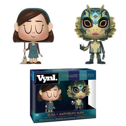 Figurine Vynl - La Forme de L'eau - Twin Pack Elisa et L'amphibien