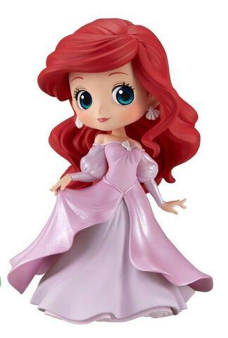 Figurine Q Posket - Disney - Ariel en robe de princesse (robe rose)