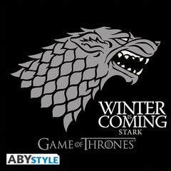 T-shirt Femme Mc - Game Of Thrones - Winter Is Coming - Noir - Taille S